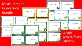 ULTIMATE Measurement Conversion Scoot Activities/Task Card Bundle