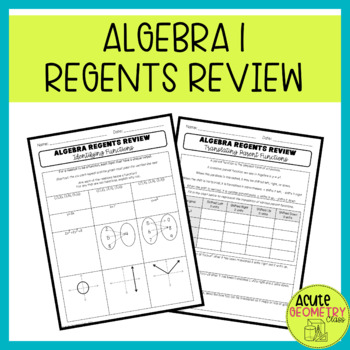 ULTIMATE NYS Algebra Regents Review!