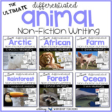 ULTIMATE Non-Fiction Animal Research Templates (3 Levels - 30 Animals)