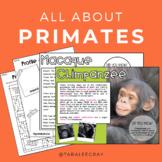 All About Primates • A Non-Fiction Resource Bundle