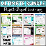 5th Grade Math Project Bundle - Great for Math Enrichment and Review SAVE 40%