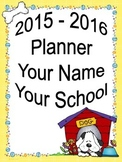ULTIMATE Teacher Planner 2015-2016 - Fun Dog Theme Common Core Included