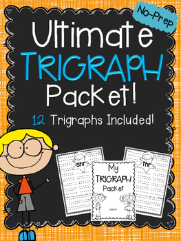ULTIMATE Trigraph Book ~ NO-PREP!
