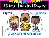ULTIMO DIA DE CLASES CORONAS SOMBREROS LAST DAY OF SCHOOL