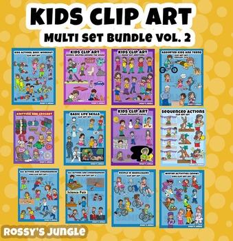 ULTRABUNDLE Kids clip art set VOLUME 2