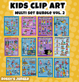 ULTRABUNDLE Kids clip art set VOLUME 2