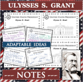 ULYSSES S GRANT U.S. PRESIDENT Notes Research Project Biography