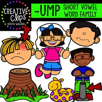 UMP Short U Word Family {Creative Clips Digital Clipart}