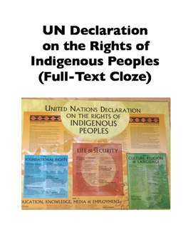 UN Declaration on the Rights of Indigenous Peoples (Full-Text Cloze)