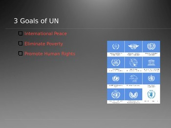 United Nations PowerPoint (History of UN, IGO's & Internat