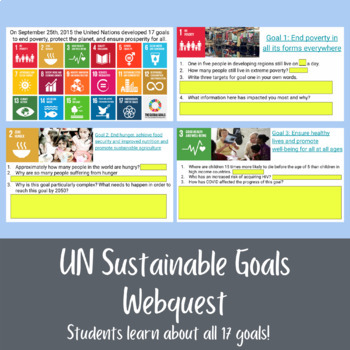 United Nations Sustainable Development Goals- Google Drive Compatible