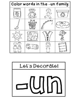 UN Word Family Interactive Notebook