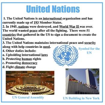 UN vs. EU Cloze Notes and Movement Activity