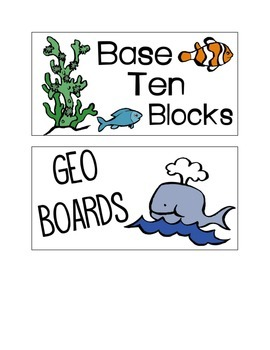 UNDER THE SEA *BIN LABELS*