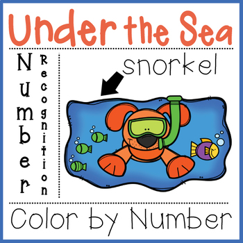 UNDER THE SEA COLOR BY NUMBER