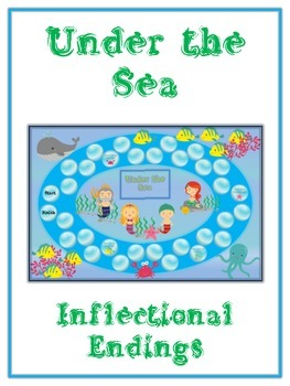 UNDER THE SEA Inflectional Word Endings - ELA First Grade