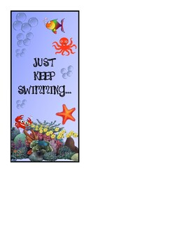 UNDER THE SEA THEME book marks