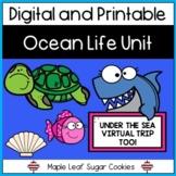 OCEAN AND SEA LIFE UNIT!!! FISH, SHARKS, SEA TURTLES, STEM & MORE!