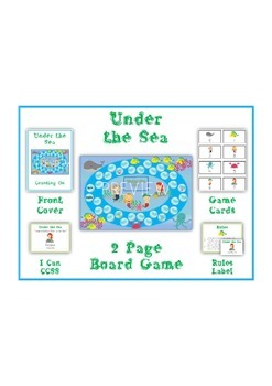 UNDER THE SEA - Word Problems Adding & Subtracting - Math Folder Game