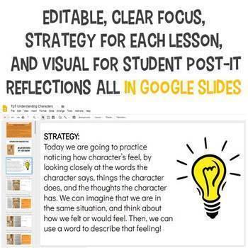 UNDERSTANDING CHARACTERS (11 Mini-Lessons Digital in Google Slides) BUNDLE