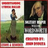 SOLITARY REAPER BY WILLIAM WORDSWORTH - UNIT PLANS AND RESOURCES