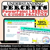 UNDERSTANDING PERCENTS PowerPoint Lesson AND Guided Practice - DIGITAL
