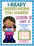 UNDERSTANDING TEEN NUMBERS USING NUMBER BOND TEN FRAME COUNTING ON I READY MATH