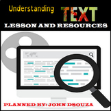 UNDERSTANDING TEXTS LESSON AND RESOURCES