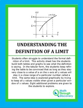 Calculus:  UNDERSTANDING THE DEFINITION OF A LIMIT-1