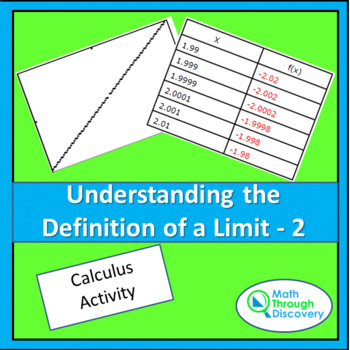 Calculus:  UNDERSTANDING THE DEFINITION OF A LIMIT-2
