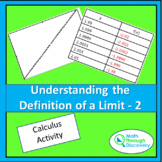 UNDERSTANDING THE DEFINITION OF A LIMIT-2