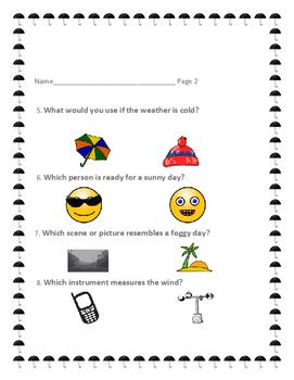 UNDERSTANDING WEATHER TERMS: QUIZ, K-2