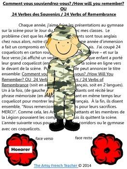 UNE RÉCITATION SIMPLE POUR L'ASSEMBLÉE AU JOUR DU SOUVENIR - Fr. Remembrance Day
