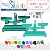UNEVEN Balance Scales Digital Clipart Set!!!