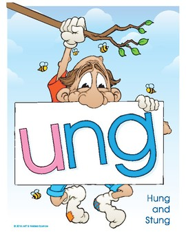 UNG (Hung and Stung) Word Buddy Poster
