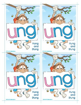 UNG (Hung and Stung) Word Buddy Card
