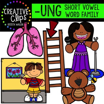 UNG Short U Word Family {Creative Clips Digital Clipart}