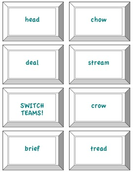UNI: Tricky Vowel Teams with 2 Sounds Game- Orton Gillingham Phonics/Reading