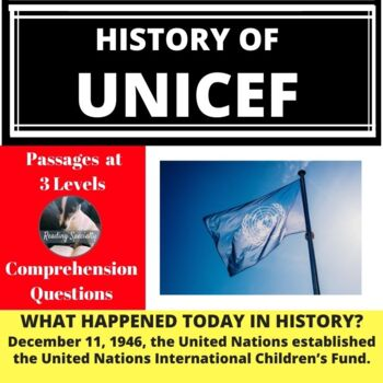 UNICEF Differentiated Reading Comprehension Passage December 11