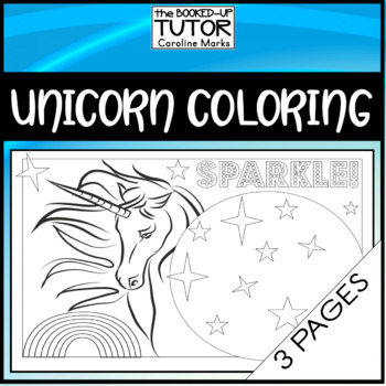 UNICORN 3 COLORING PAGES