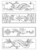 UNICORN COLORING BOOKMARKS, UNICORN ACTIVITIES CRAFTS, COL