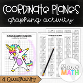 UNICORN DAB: Coordinate Plane Graphing Activity! (All 4 Quadrants)
