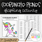 UNICORN DAB: Coordinate Planes Graphing Activity! (Quadrant 1)