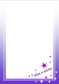 FREE! UNICORN Paper A4 size
