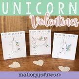 UNICORN Valentine's Day Cards