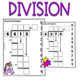 UNICORNS - 15 SLIDES for Division practice Google Slides™, Long Division