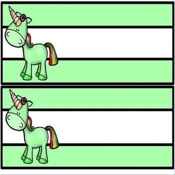 Unicorns Name Plates