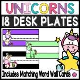 Unicorns Name Plates and Desk Tags