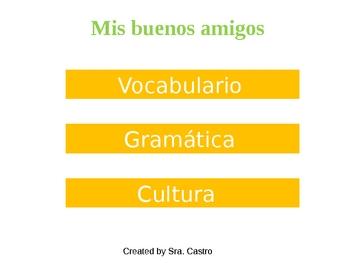 UNIDAD 1 ETAPA 2: vocabulary, grammar and culture