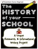 UNIQUE Informational Research & Writing Project - THE HISTORY OF YOUR SCHOOL